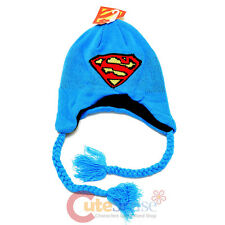 DC Comic Supermen Knitted Laplander Beanie Hat with Ear Flap (Teen-Adult)