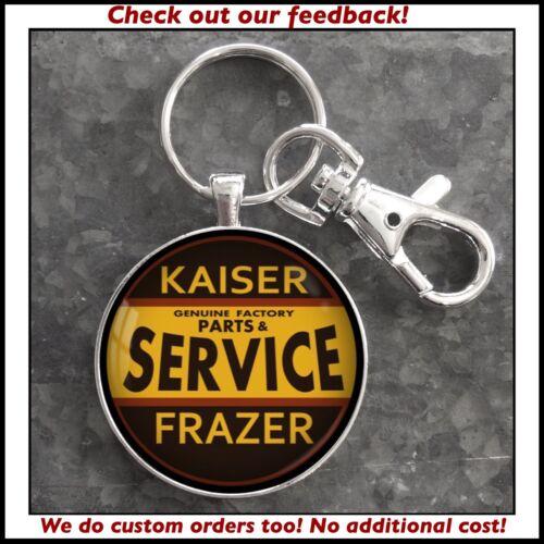Kaiser Frazer Parts Service Sign Photo Keychain Pendant Gift