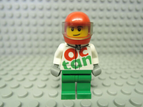 Lego Figur City Rennfahrer Race Car Driver weiße Jacke Octan cty922 951807