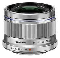 Olympus M.zuiko Digital Micro 4/3 25mm F/1.8 Lens (silver) on sale