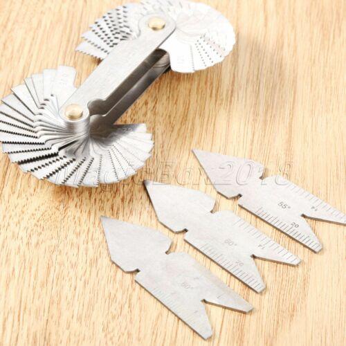 Checking Tool Angle Metal Turning Lathes Screw Putch Gauge Inch /& Metric 55/&60°