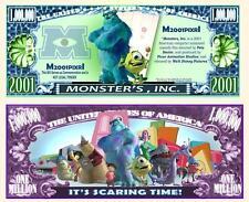 MONSTER'S INC. W. DISNEY . Million Dollar . Billet de commémoration / Collection