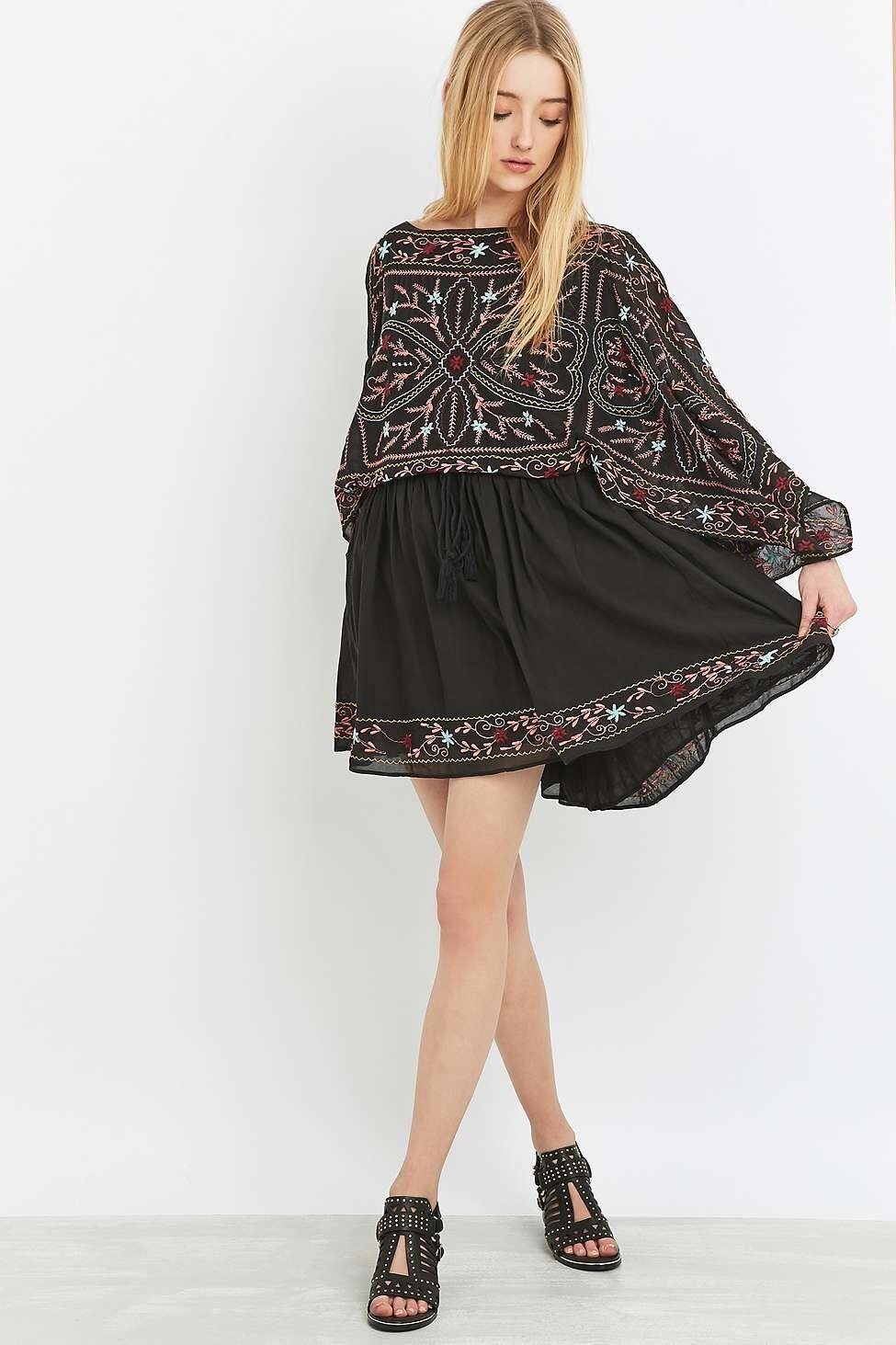 Free People damen Frida Print Boho Hippie Drape Sleeve Sexy Mini Party Dress