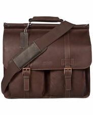 Kenneth Cole Reaction  Colombian Leather Dowel Rod Double Gusset Laptop Briefcas