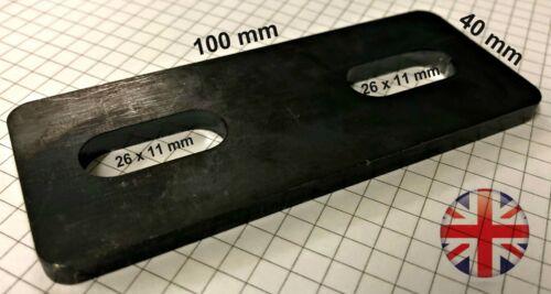 Mild Steel Universal U Bolt BRACKET 100 x 40 x 5 mm Slotted Fits all our U Bolts