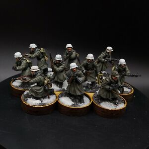 PRO PAINTED 28mm BOLT ACTION Tedesco Inverno GRANATIERI × 10 SQUADRA #1 ww2