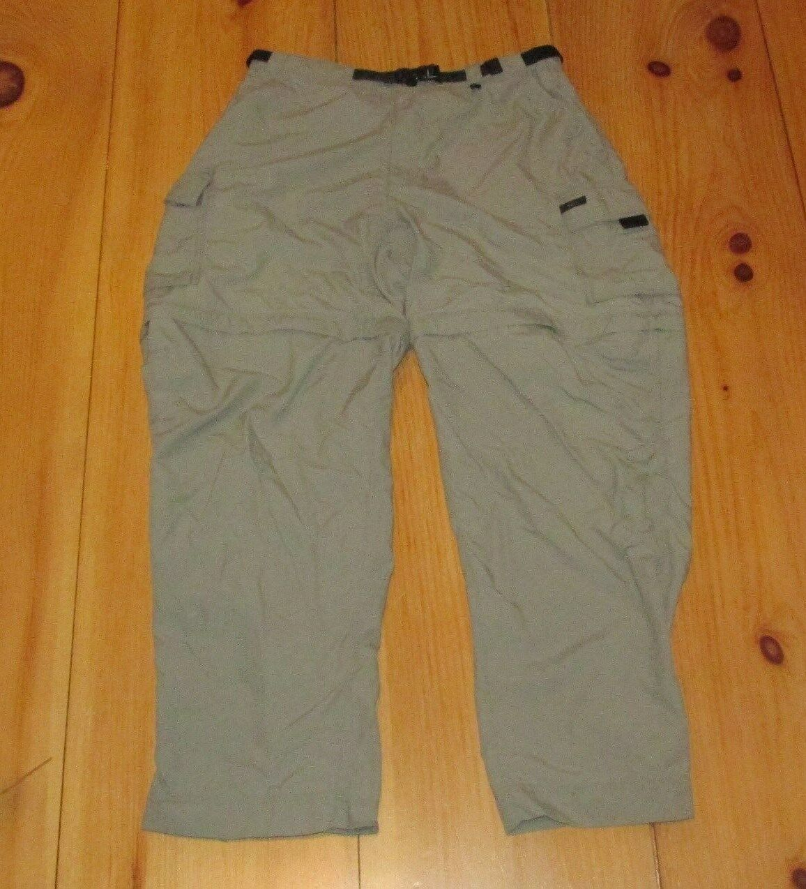 REI Congreenible Hiking Cargo Pants Womens Sz 14 P Beige Nylon UPF 50 + Outdoor