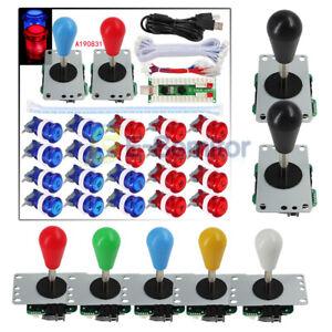 SJ-JX-Arcade-Game-Kit-Fighting-Joystick-LED-Button-USB-Encoder-Board-F-MAME-Xbox