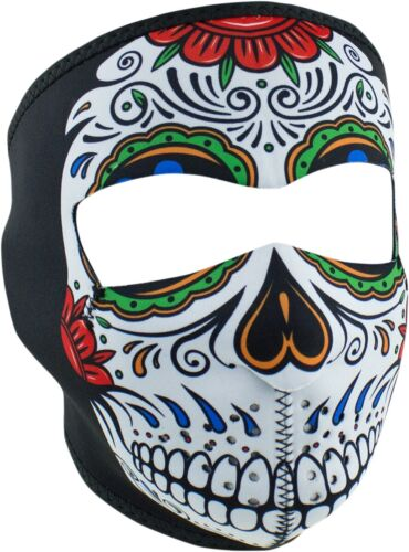 Zan Headgear Muerte Skull Neoprene Snow Motorcycle Winter Moto Half Face Masks