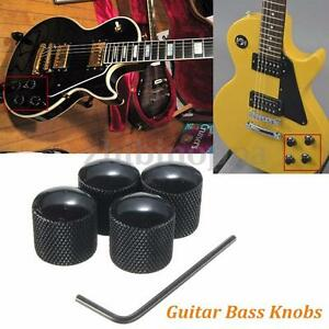 lot4 black metal volume tone control dome style electric guitar bass knobs. Black Bedroom Furniture Sets. Home Design Ideas