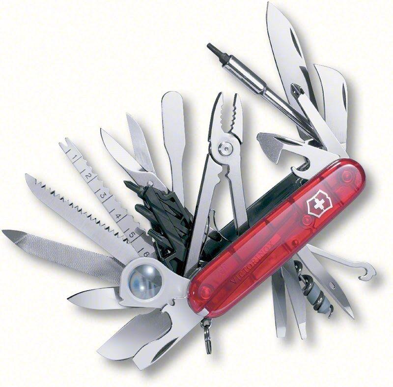 SWISS ARMY KNIFE, SWISSCHAMP XLT,RUBY  BOXED, VICTORINOX, MODEL 53504