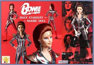 Barbie-DAVID-BOWIE-Doll-in-Hand-Limited-Edition-ZIGGY-STARDUST-Gold-Label-NEW