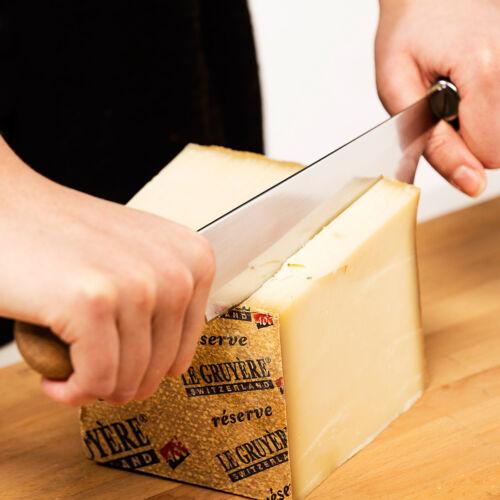 Sagaform Käsemesser mit zwei Griffen Oval Oak Edelstahl Braun NEU