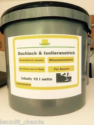 Fürs Dach Heimwerker 2,30€/l Lenzolit Dachanstrich Bitumen Dachlack Kaltanstrich Bitumenemulsion