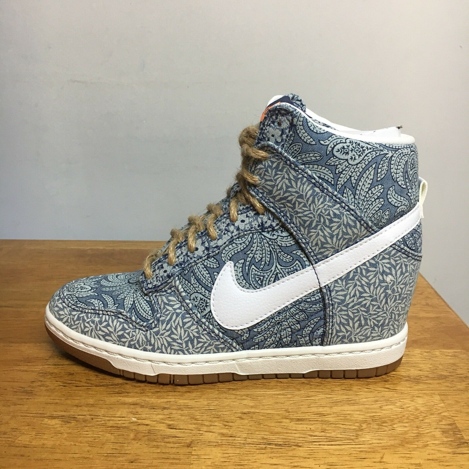 Nike Women's Dunk Sky Hi LIB LONDON blueE RECALL LINEN 529040-401 sz 5