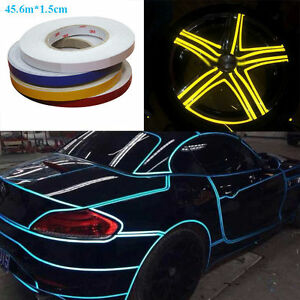 1 roll 3m car vehicle bike light reflecting reflective tape sticker image is loading 1 roll 3m car vehicle bike light reflecting aloadofball Choice Image