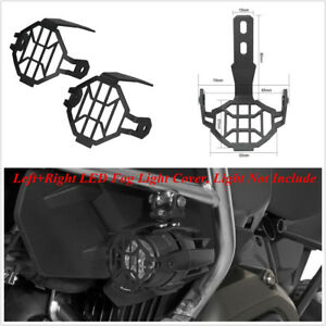2-Pcs-Black-Aluminum-LED-Fog-Light-Lamp-Guards-Cover-For-BMW-R1200GS-ADV-F800GS