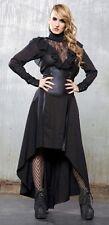 Lip Service Gangsta Pranksta high waisted bustle long skirt S goth black gold