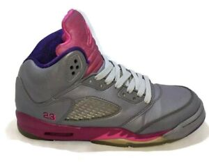 Details about Nike Air Jordan 5 Retro Cement Basketball shoes Kids size 6.5 Youth 440892-009