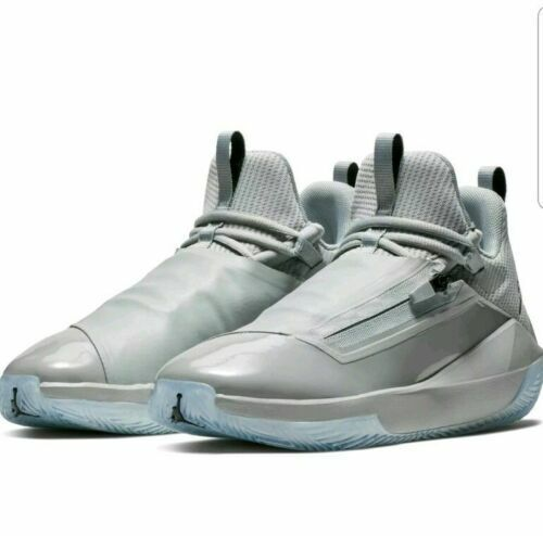 e40c6f9ab974a Nike Mens 10 Jordan Jumpman Hustle Grey Basketball Shoes Aq0397 002