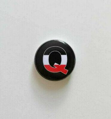 Kaiserreich Button TOP Qualität Qanon 25mm Ø Q Anstecker Pin