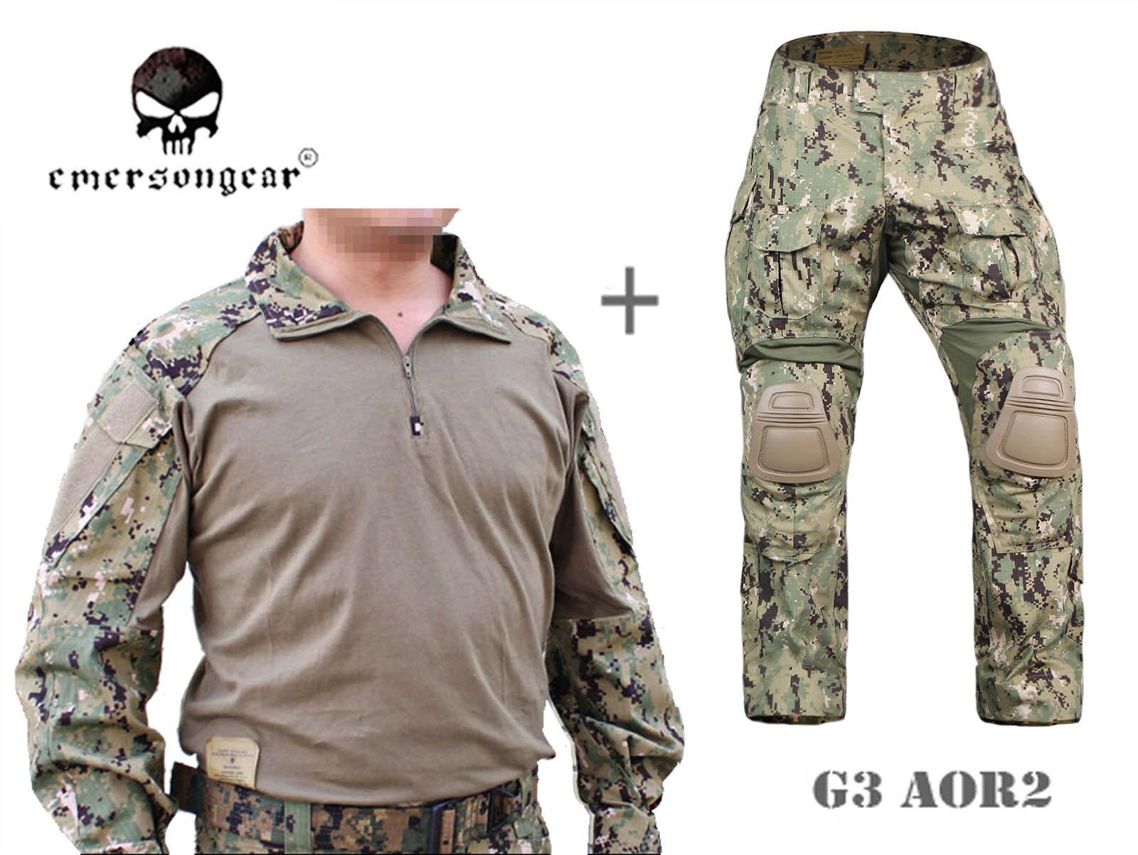 Airsoft Army Tactical Uniform Emerson Combat G3 Uniform Shirt Pants AOR2