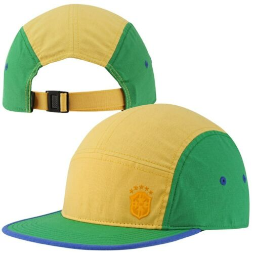 NEW 624078 703 World Cup 5 Panel Hat Running QS Hat RARE Nike Brazil AW84 Cap