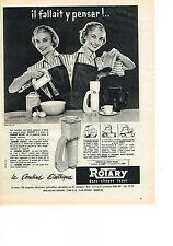 PUBLICITE ADVERTISING  1957   ROTARY   combiné éléctrique batterie de cuisine