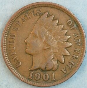 1901 Indian Head Cent Penny Liberty Very Nice Vintage Old Coin Fast S&H 76787