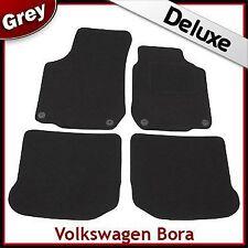 VW Bora 1998-2005 Round Eyelets Tailored LUXURY 1300g Carpet Mats GREY