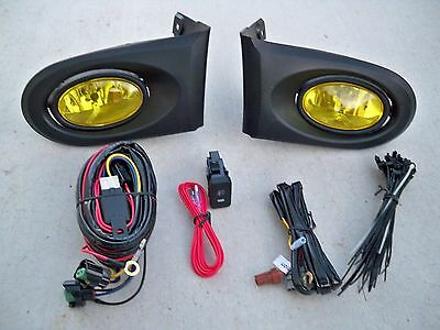 02-04 Acura RSX DC5 JDM Yellow Fog Light Kit + Harness + Switch Complete Type S
