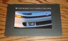 Original 1992 Mitsubishi Car & Truck Full Line Sales Brochure 92 Eclipse Galant