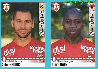 YOUSSOUF HADJI AS.NANCY STICKER FOOT 2017 PANINI 564-565 ANTONY ROBIC