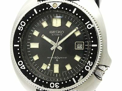Vintage SEIKO 150M Diver Steel Rubber Automatic Mens Watch 6105-8000 BF306519