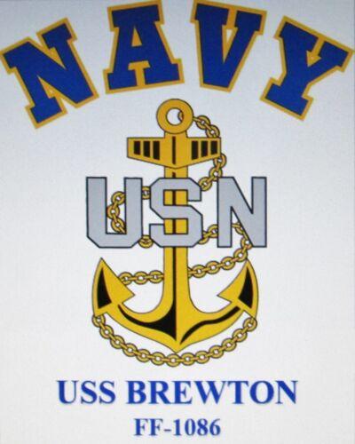 USS KIRK   FF-1087 FRIGATE* U.S NAVY W// ANCHOR* SHIRT