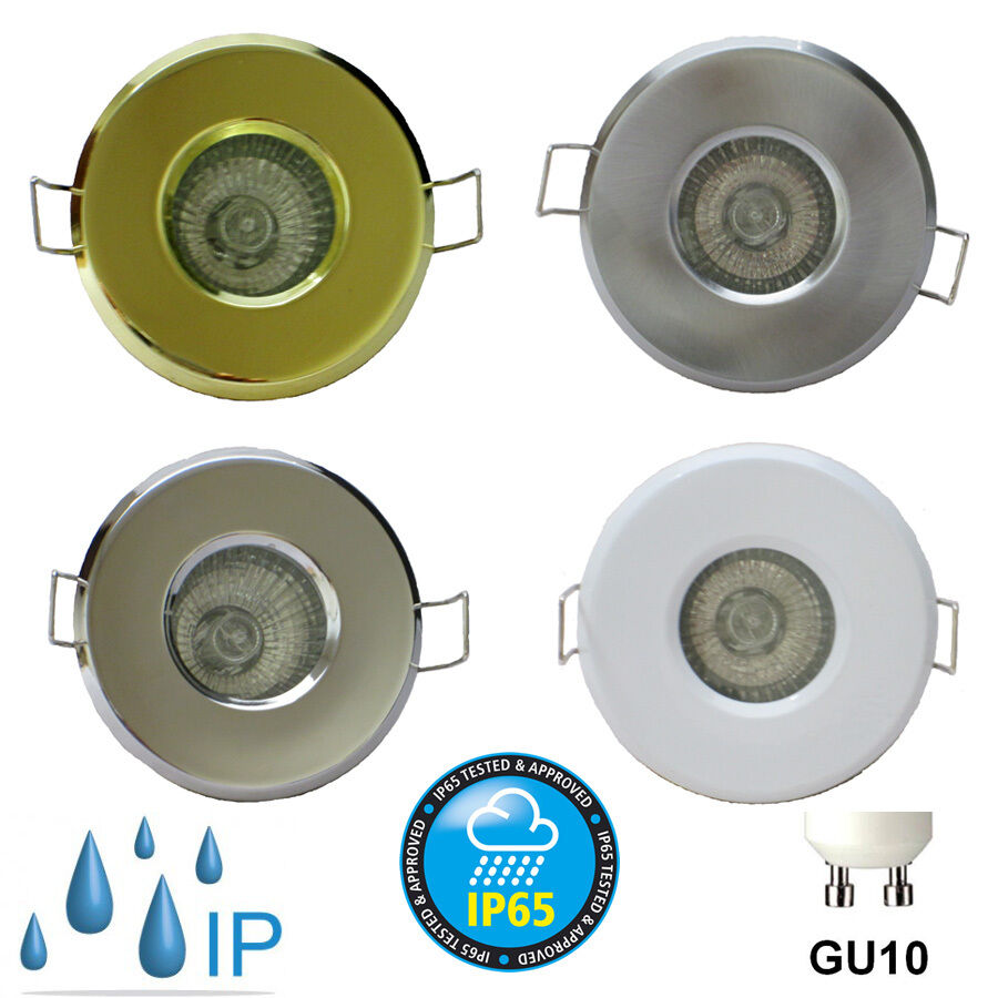 10 X BATHROOM IP65 DOWNLIGHT MAINS 240v ZONE 1 2 SHOWER ENSUITE RECESSED LIGHT