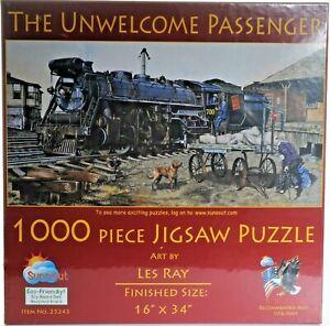 Sunsout-1000-piece-Puzzle-034-Unwelcome-Passenger-034-NIB