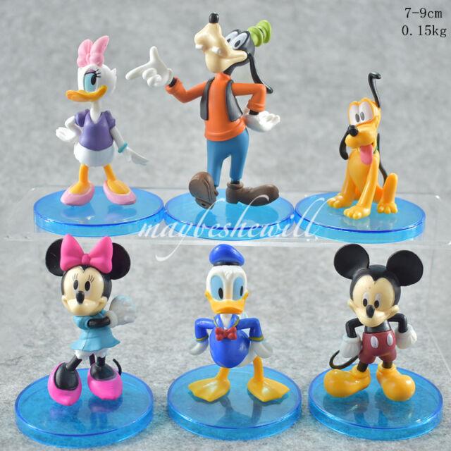 Disney Mickey Minnie Mouse 6 Pcs Figure Playset Donald Duck Birthday