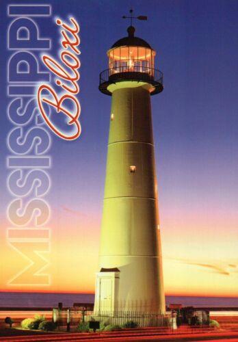 The Biloxi Lighthouse Mississippi 1848 Postcard Gulf Coast Landmark MS Light