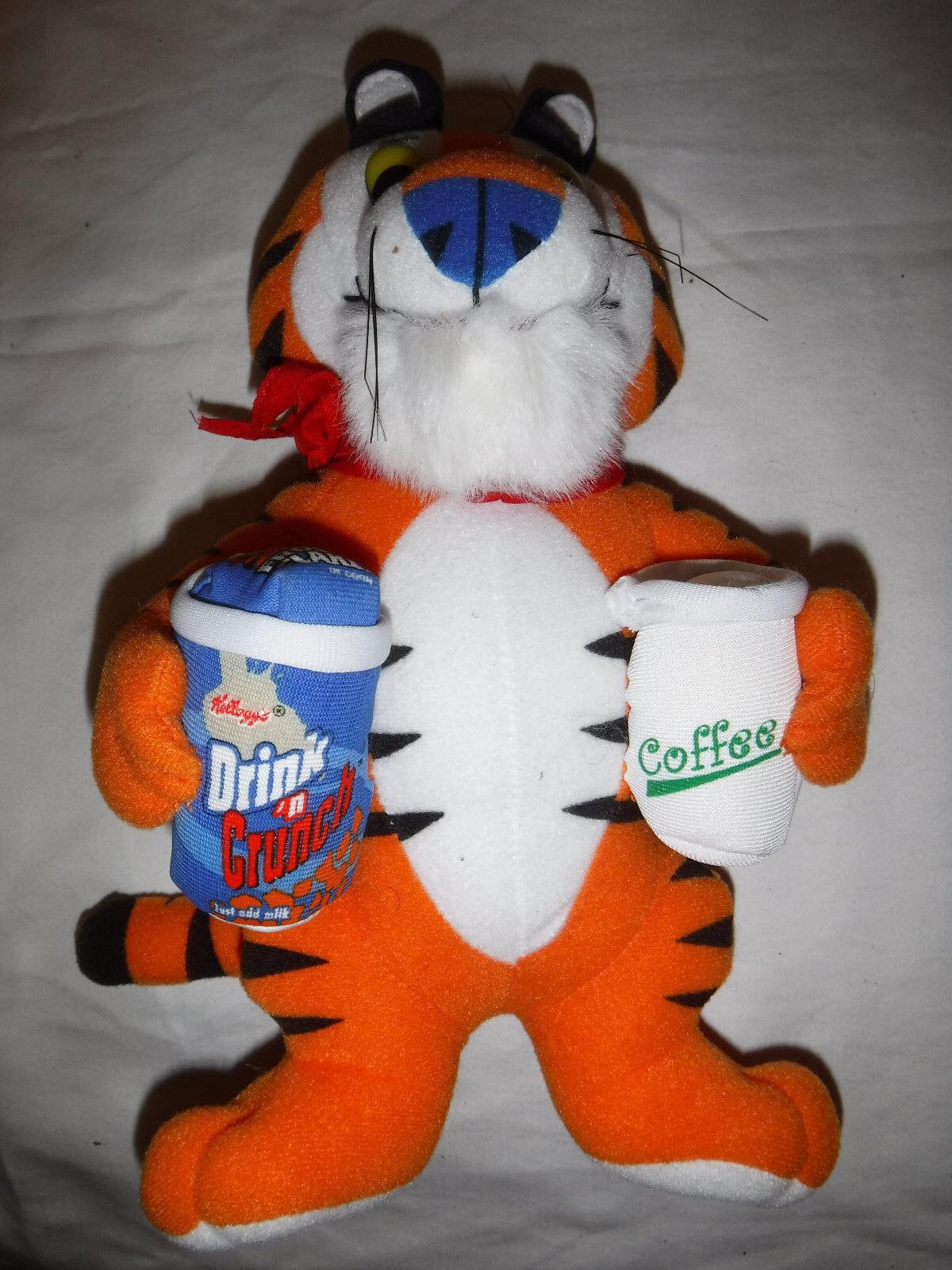 2005 Kellogg Tony the Tiger Drink & 10 Plush Soft Toy Stuffed Animal