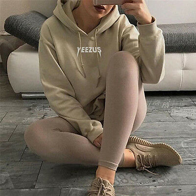 Fashion Women Sport Hooded Sweatshirt Letter Printed Loose Pullover Hoodies Tops
