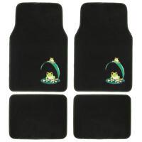Custom Design Floor Mats, 4 Pc Car Accessories For Girls, Green Frog on Sale