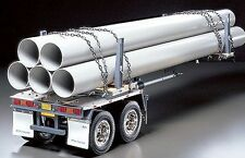 Tamiya 56310 1/14 RC Scale Tractor Truck Pole-Trailer w/5 Plastic Pipes Kit