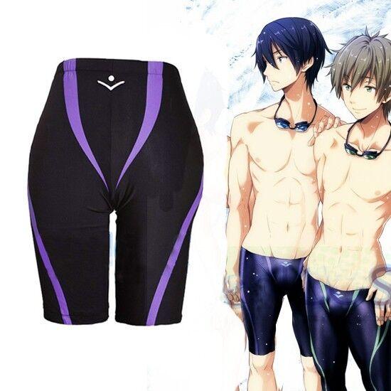 Casual Anime Free! Iwatobi Swim Club Nanase Haruka Cosplay Pant Swimming Trunks