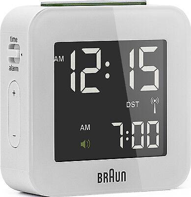 Réveil Quartz BRAUN Blanc Radio Piloté Interface LCD BNC008WH RC | eBay