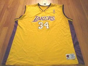 VINTAGE 90 S CHAMPION NBA LOS ANGELES LAKERS SHAQUILLE O NEAL JERSEY ... 312750439