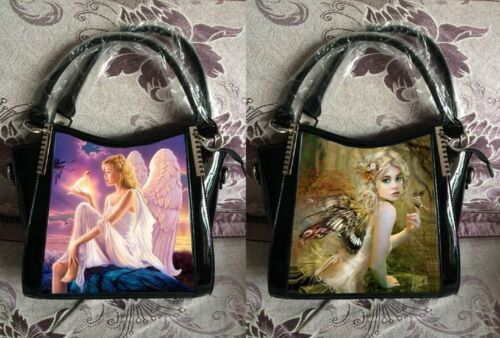 Caszmy 3D Lenticular Image Fantasy Design Purse Wallet Black Synthetic Leather