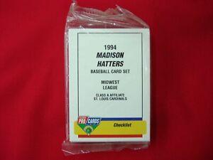 1994-MADISON-HATTERS-J-McEWING-MINOR-LEAGUE-TEAM-SET-FLEER-PROCARDS-FACT-SEAL