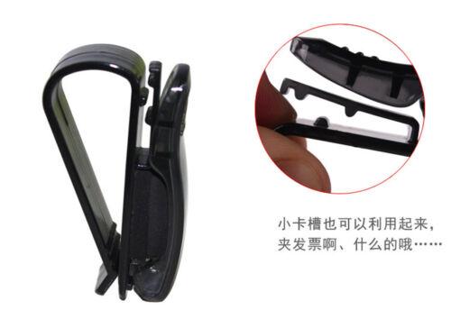 BLACK Car Auto Sun Visor Glasses Sunglasses Card Ticket Holder Clip Universal HS