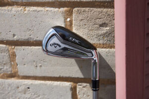 Callaway Forged Epic Star iron set 6-PW,AW,GW,SW graphite regular **Excellent**